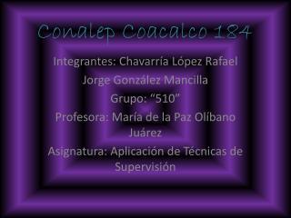 Conalep Coacalco 184