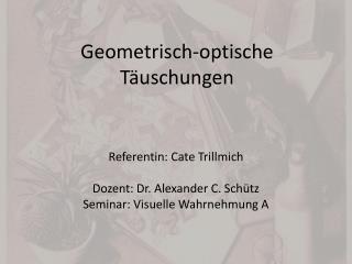 Geometrisch-optische Täuschungen