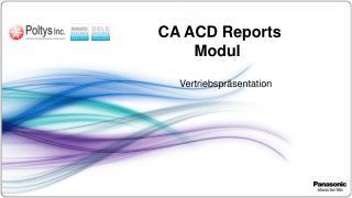 CA ACD Reports  Modul