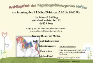 Am  Samstag, den 15. März 2014  von 15.00 bis 18.00 Uhr