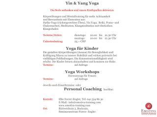 Yin & Yang Yoga   Die Seele auftanken und innere Kraftquellen aktivieren