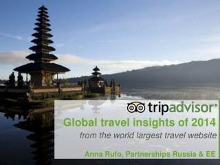 Global travel insights of 2014