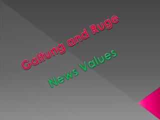 Ga ltung  and  Ruge