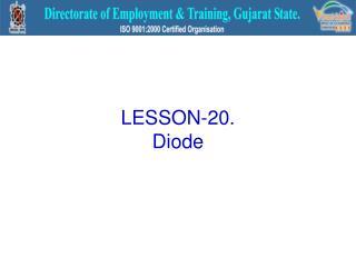LESSON-20. Diode