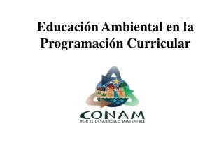 Educaci n Ambiental en la Programaci n Curricular