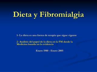 Dieta y Fibromialgia
