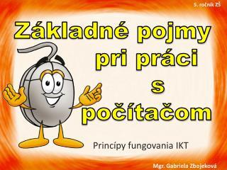 Princípy fungovania IKT