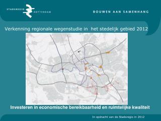 Verkenning regionale wegenstudie in  het stedelijk gebied 2012