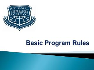 Basic Program Rules