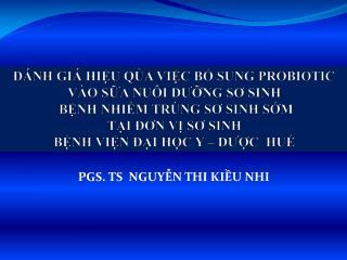 PGS. TS  NGUYỄN THI KIỀU NHI
