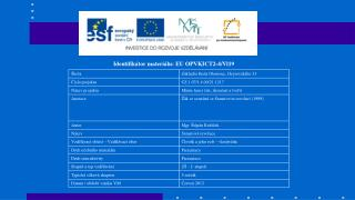 Identifikátor materiálu: EU OPVKICT2-4/Vl19