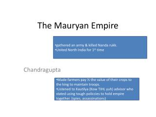 The  Mauryan  Empire