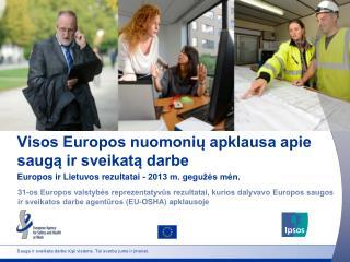 Visos Europos nuomonių apklausa apie saugą ir sveikatą darbe