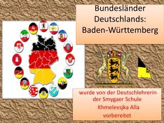 Bundesländer Deutschlands: Baden-Württemberg