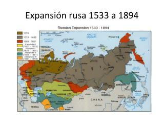 Expansión rusa 1533 a 1894