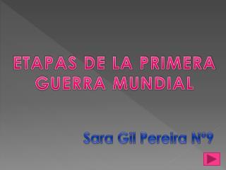 ETAPAS DE LA PRIMERA GUERRA MUNDIAL