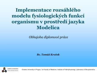 Implementace rozsáhlého modelu fysiologických funkcí organismu v prostředí jazyka Modelica