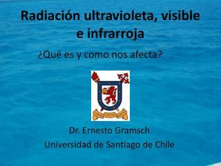 Radiación ultravioleta, visible e infrarroja