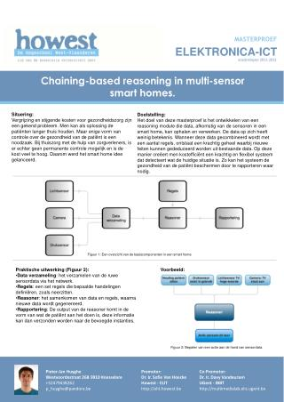 Chaining-based reasoning  in  multi-sensor  smart homes.