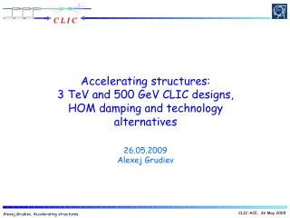 Accelerating structures: