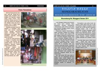 H.8              MARET 2014 | NO. 001 | TAHUN I | 8 HAL.                                PERMUKIMAN