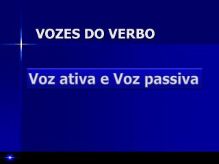 VOZES DO VERBO