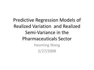 Haoming  Wang 2/27/2008
