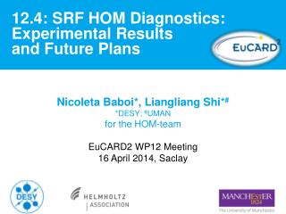 12.4: SRF HOM Diagnostics: Experimental Results  and Future Plans