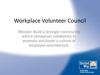 Workplace Volunteer Council