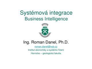Systémová integrace Business  Intelligence