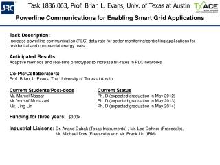 Task 1836.063, Prof. Brian L. Evans, Univ. of Texas at Austin