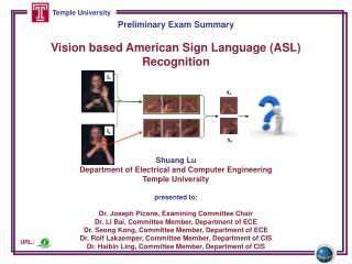 Preliminary Exam  Summary Vision based American Sign Language (ASL) Recognition