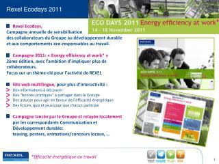 Rexel  Ecodays 2011