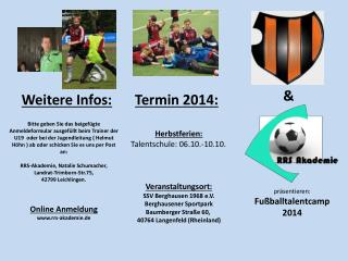 präsentieren: Fußballtalentcamp 2014