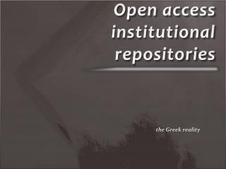 Open access institutional repositories