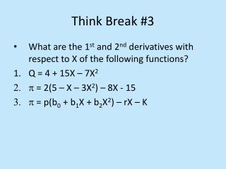 Think Break #3