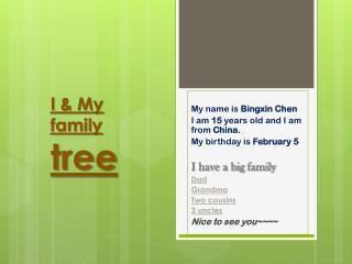 I & My family tree