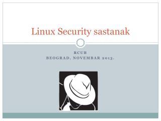 Linux Security  sastanak
