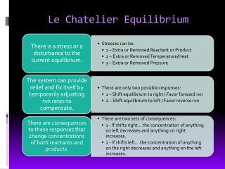 Le  Chatelier  Equilibrium