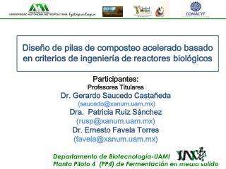Departamento de  Biotecnología-UAMI Planta Piloto 4  (PP4) de Fermentación en medio sólido