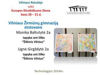 Vilniaus Rotušėje vyko Europos Kūrybiškumo Diena  kovo 20 – 21 d.