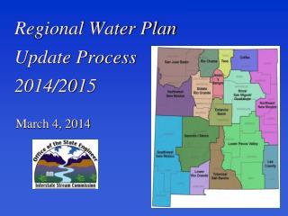 Regional Water Plan  Update Process  2014/2015