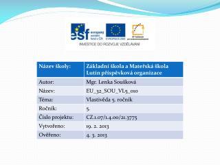 Česká republika NEJ Co známe ze 4. ročníku