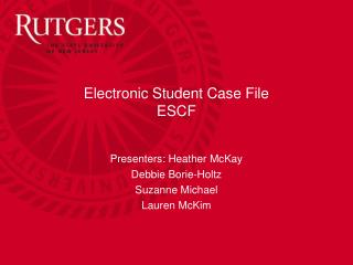 Electronic Student Case File ESCF
