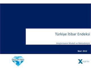 Türkiye İtibar Endeksi  Araştırmanın Modeli ve Metodolojisi