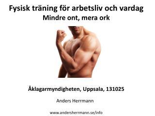 Fysisk träning för arbetsliv och vardag Mindre ont ,  mera ork