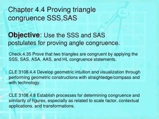 Side-Side-Side (SSS) Congruence