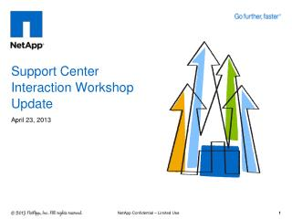 Support Center Interaction Workshop Update