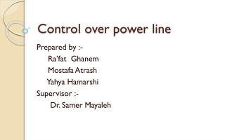 Control over power line
