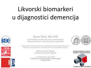 Likvorski biomarkeri u dijagnostici demencija